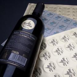 Vinetiketter med logo tryk