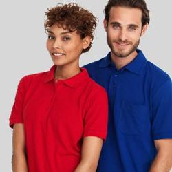 Klassisk polo t-shirts med og uden lomme & med tryk og broderi