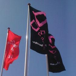 Reklame flag med logo tryk