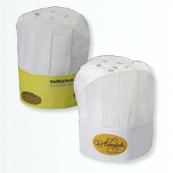 Kokkehuer i crêpe papir med dit logo tryk