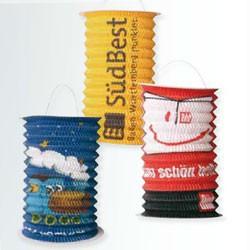 Papir lanterner med reklame logo tryk