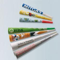 Paphorn med reklame logo tryk