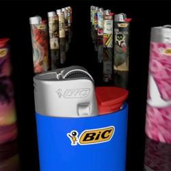 Bic Lighter med reklame