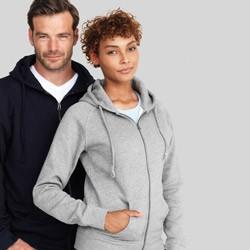 Cardigan sweatshirts med tryk og broderi