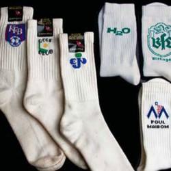 Sportssokker med indvævet logo