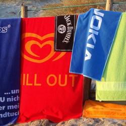 Reklame håndklæder med logo tryk Min. 1000 enheder.