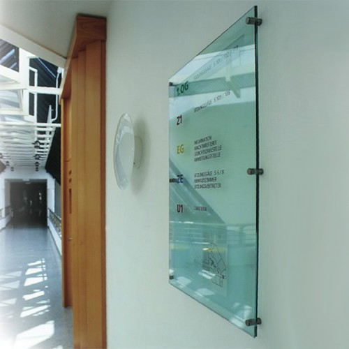 Glasskilte og plexiglas skilte med tryk