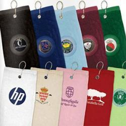 Golf håndklæder med logo tryk