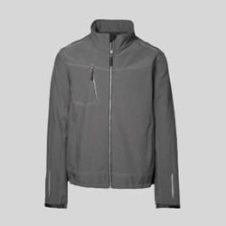 Worker soft shell jakke og worker fleece med tryk og broderi