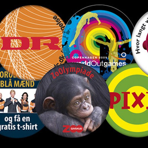 Badges med logo tryk