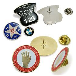 Pins med logo præg & tryk