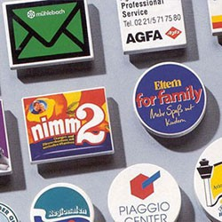 Magneter med logo tryk