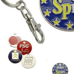 Metal nøgleringe med reklame logo tryk