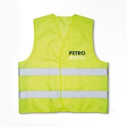 Reflex veste med logo tryk