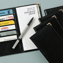 2018 Læder lommekalendere med logo tryk