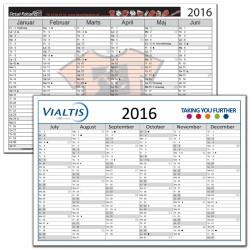 Kartonkalendere 2019 med logo tryk