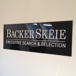 Acrylskilte med reklame logo tryk