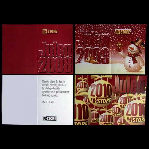 Julekort med logo tryk