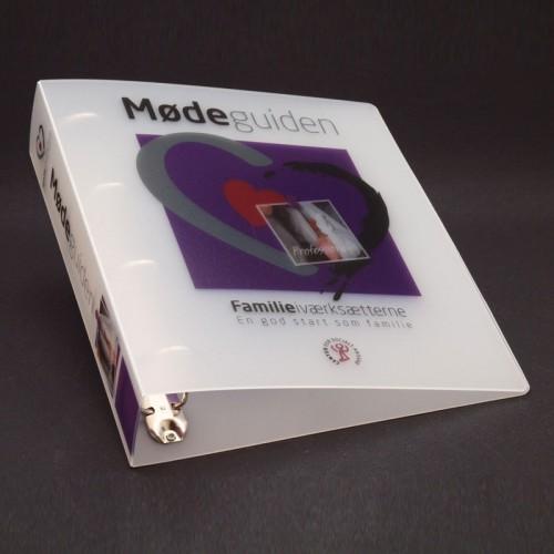 Plast ringbind og mapper med logo tryk