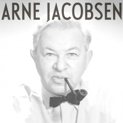 Arne Jacobsen med logo tryk