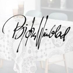 Bjørn Wiinblad med reklame logo