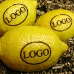 citroner med logo