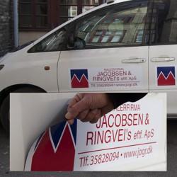 Magnetskilte til biler med logo tryk