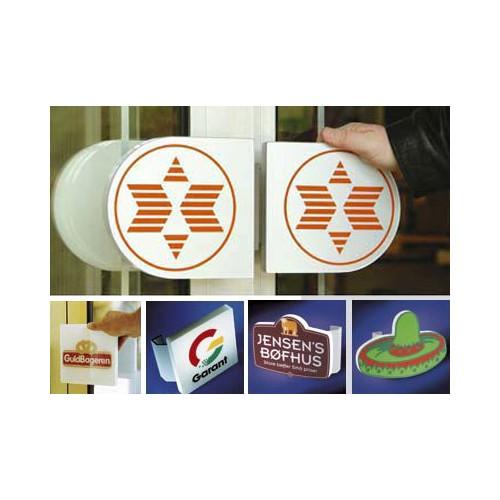 Dørhåndtag med logo tryk
