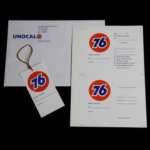 Olieservice kort med logo tryk