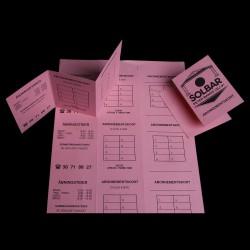 Tidsbestillingskort med logo tryk