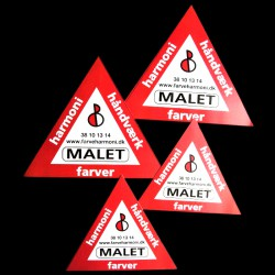 Advarselsskilte med logo tryk