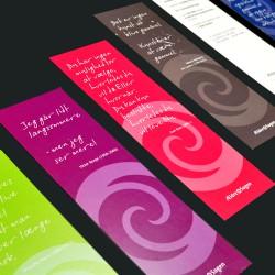 Bogmærker med logo tryk