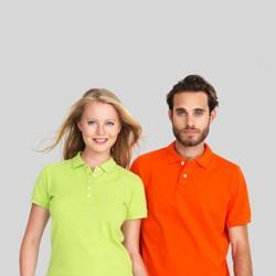 Polo t-shirts med tryk og broderi