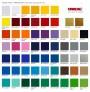 Farve oversigt - Udskåret selvklæbende tal, bogstaver & logoer i folie