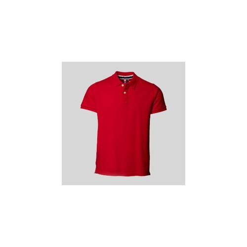Pique polo t-shirts med tryk og broderi