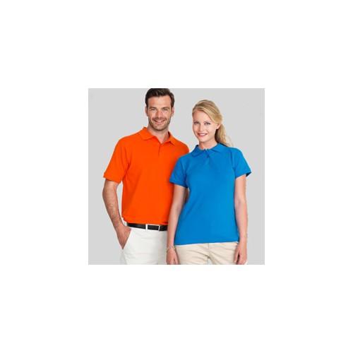 Stretch polo t-shirts med tryk og broderi