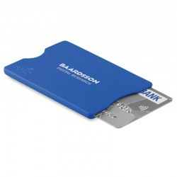 Kreditkort beskytter med reklame tryk