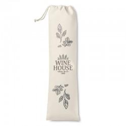 Vin stofpose med reklame logo tryk