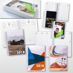 2018 Spiralkalendere med reklame logo tryk