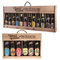 Øl i kasser med logo tryk