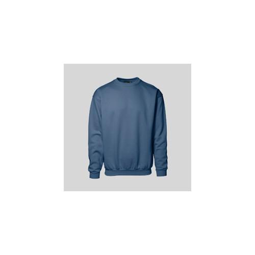 Klassisk sweatshirts med rund hals med tryk og broderi