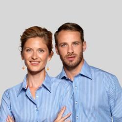 Skjorte med tryk og broderi