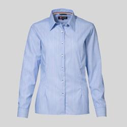 Dameskjorte med tryk og broderi