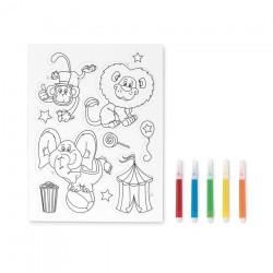 Malebøger til børn med logo tryk
