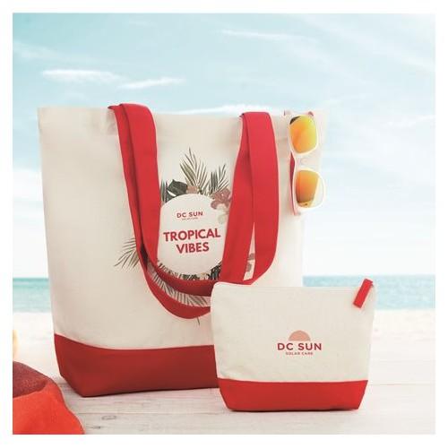 Strand tasker med reklame logo tryk