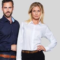 Easy iron skjorter med tryk og broderi