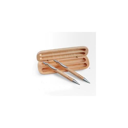 Træ kuglepenne med reklame logo tryk