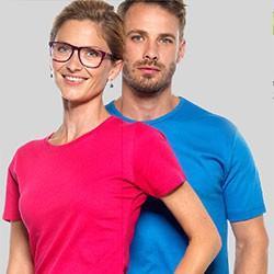 Interlock T-shirt med tryk og broderi