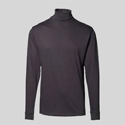 Rullekrave t-shirt med tryk og broderi