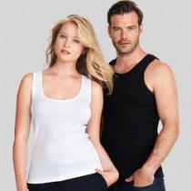 Ærmeløse T-shirts, brydermodel og tank tops med logo